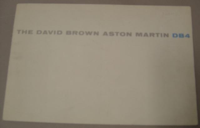 An Aston Martin DB4 brochure