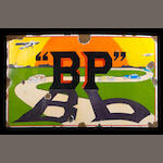 "A rare ""BP"" enamel sign, by Emaillerie, Belgium,"