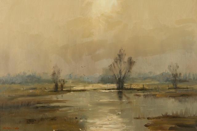 Marcus Ford (British, 1914-1989) 'Flooded fen'