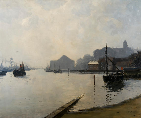 Campbell Archibald Mellon (British, 1876-1955) 'Yarmouth: early morning'