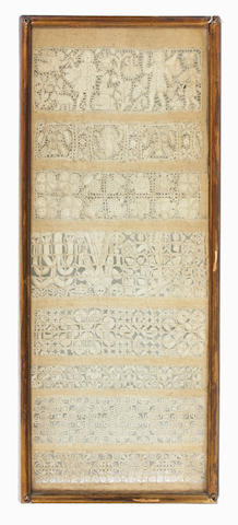 A late 17th century cutwork band sampler