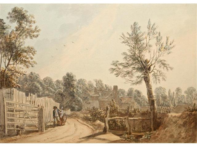 (n/a) Paul Sandby, R.A. (British, 1730-1809) 'Near Windsor' 18.5 x 26cm.