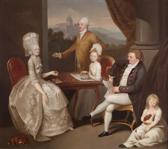 Franciszek Smuglevicz (Warsaw 1745-1807 Vilno) Portrait of The Hon. Aubrey Beauclerk and his Family,