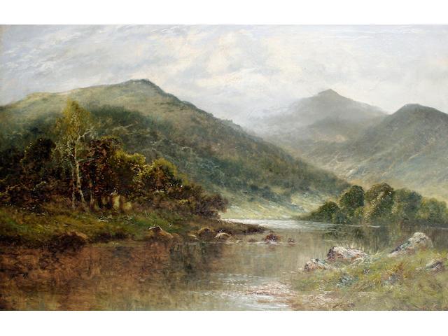 English School, early 20th Century Highland landscape