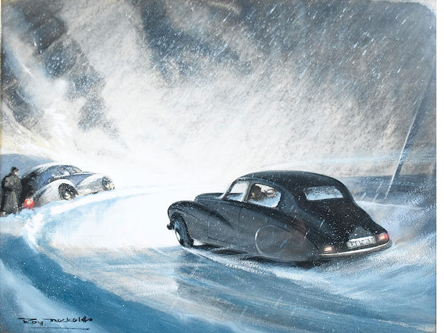 Roy Nockolds 'Stirling Moss Sunbeam Talbot 1952 Monte Carlo Rally',