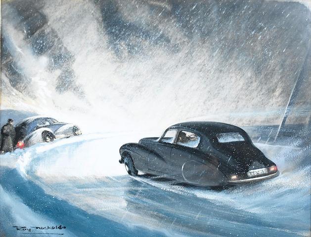 Roy Nockolds (1911-1979), 'Stirling Moss Sunbeam Talbot 1952 Monte Carlo Rally',
