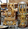 A French 19th century spelter gilt mantel clock
