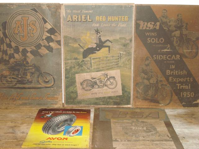 Three 1950s motorcycle posters,