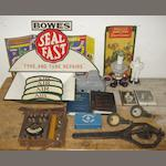 Assorted garage and motoring collectables,