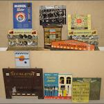 Assorted point-of-sale advertising display items,