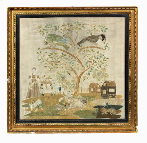 An early 19th century needlework picture