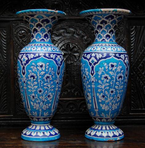 A pair of Turkish terracotta vases