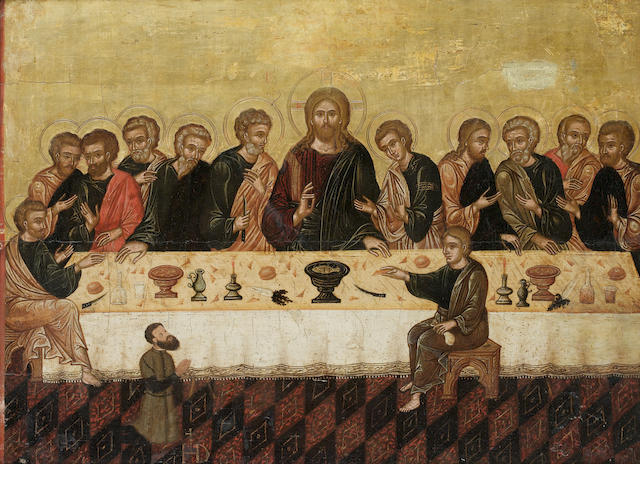 Veneto-Cretan School, 16th Century The Last Supper with a male donor