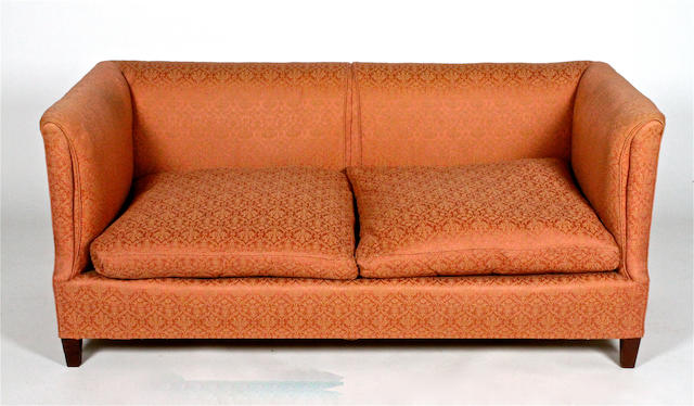 A Howard & Sons Ltd upholstered box frame two seater settee