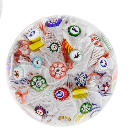 A Baccarat spaced millefiori paperweight, dated 1847