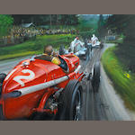 James Dugdale (1940-), 'Nuvolari at the German Grand Prix 1935',