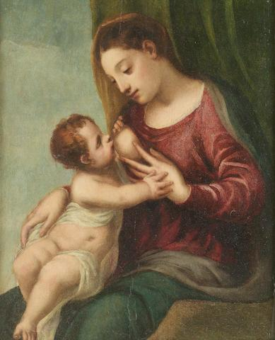 Circle of Bernardino Licinio (Italian, born circa 1489-died before 1565) The Madonna and Child