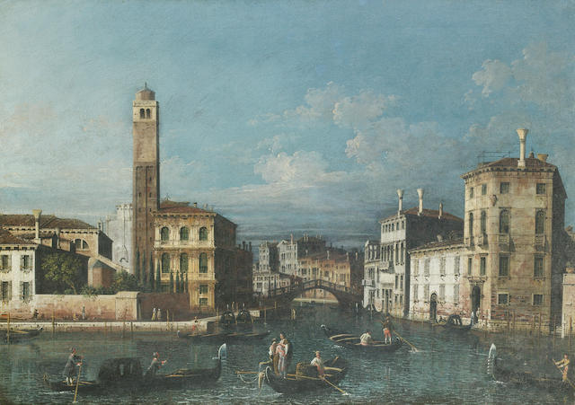 Apollonio Domenichini, alternatively identified as Master of the Langmatt Foundation Views (active Venice circa 1740-1760) 46cm x 66cm.