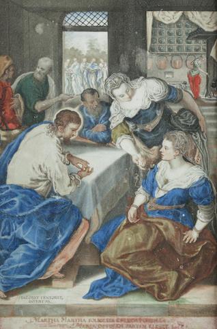 Friedrich Brentel I (Lauingen 1580-1651 Strasbourg) Christ in the House of Mary and Martha
