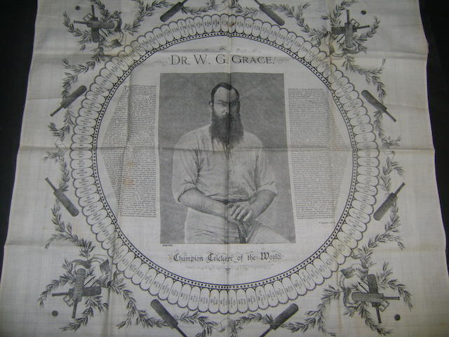 W.G.Grace cotton hankerchief c1895
