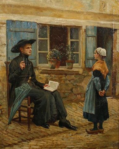 Emily M. Merrick (British, born 1842) A French Lesson
