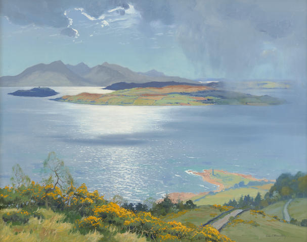 Robert Houston, RSW (British, 1891-1942) When the Mist breaks over the Cumbraes and the Arran Peaks are grey,
