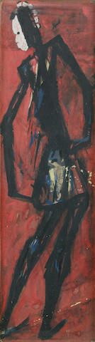 Ben (Benedict Chukwukadibia) Enwonwu, M.B.E (Nigerian, 1917-1994) Masked dancer