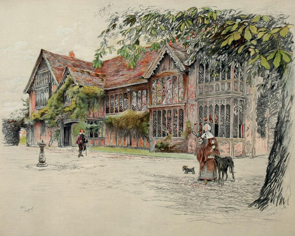 Cecil Charles Windsor Aldin, RBA (British, 1870-1935) 'Ockwells Manor'; 'Binghams, Melcombe'; and 'The Star Inn, Alfriston'