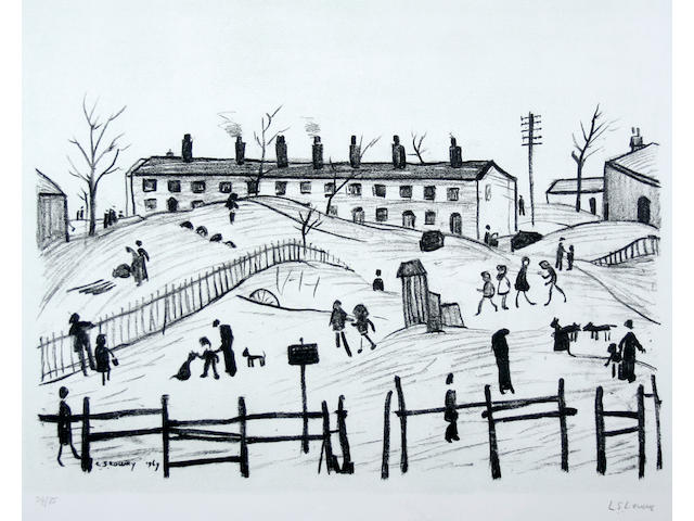 Laurence Stephen Lowry R.A. (British, 1887-1976) 'Winter in Broughton',