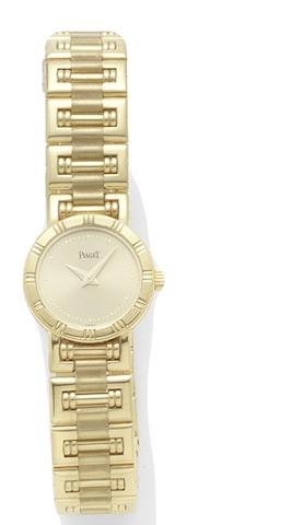 Piaget. A lady's 18ct gold quartz bracelet watchMini Dancer, Sold 9th April 2007
