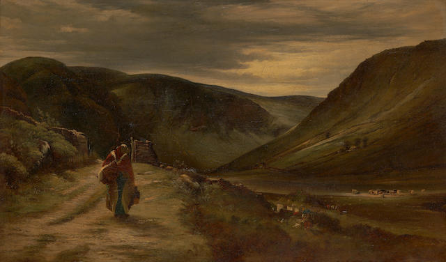 "Erskine Nicol R.S.A., A.R.A. (British, 1825-1904) ""Glendalough, Co Wicklow"""