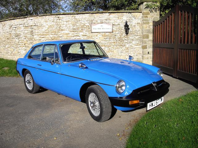 1980 MGB GT Coupé  Chassis no. GVGEJ1AG517443