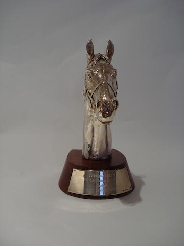 A Continental presentation silver model of a horse's head