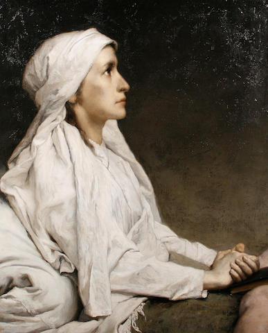 Gabriel Cornelius Ritter von Max (Czechoslovakian, 1840-1915) Portrait of Friederike Hauffe