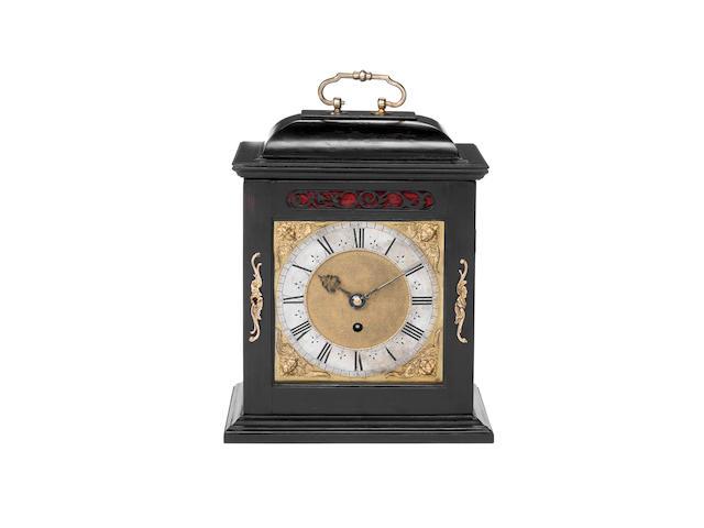 A late 17th century ebony veneered quarter repeating bracket timepiece Joseph Knibb, London 2