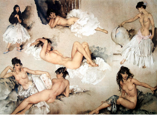 Sir William Russell Flint R.A., P.R.W.S. (British, 1880-1969) 'Variations II'