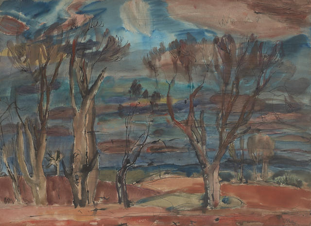 Sir William George Gillies, CBE LLD RSA PPRSW RA (British, 1898-1973) Trees and red earth