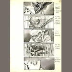 Alien 3, 1992  Three storyboard sheets by Martin Asbury, labelled for the sequence 'Death of Clemens',