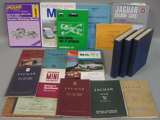 Assorted Jaguar literature,
