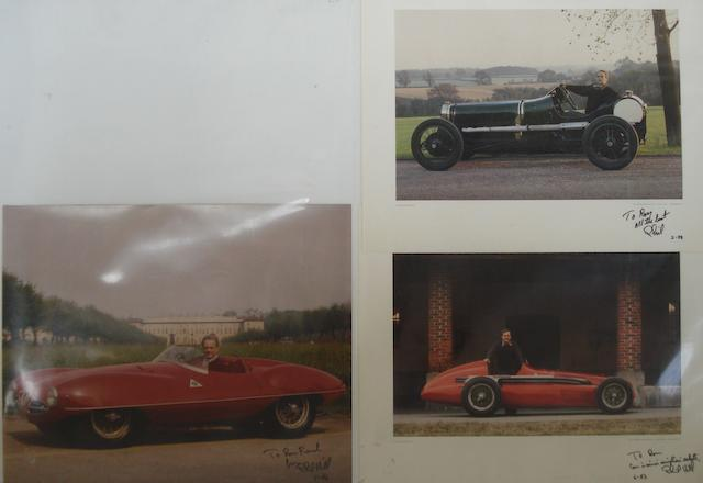 Three signed Phil Hill images,