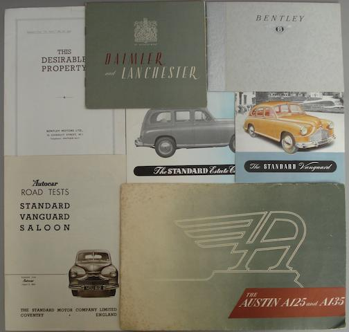 A lot of car brochures,