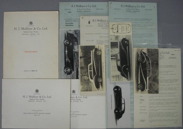 A lot of items relating to coachbuilders H.J. Mulliner,