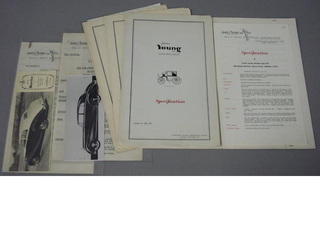 Four James Young specification folders,