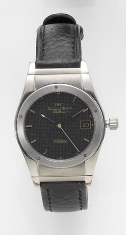 IWC. A stainless steel quartz calendar wristwatch Ingenieur, 1980's