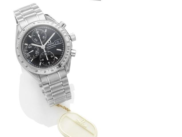 Omega. A stainless steel automatic chronograph bracelet watch Speedmaster, Recent