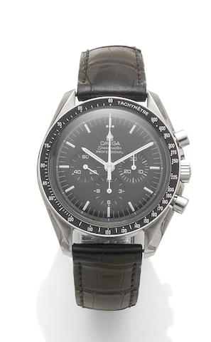Omega. A stainless steel manual wind chronograph wristwatchSpeedmaster, reference: 77137018, recent