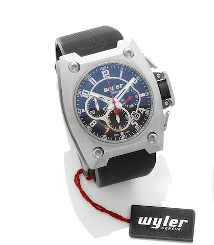 Wyler. A steel and titanium automatic limited edition chronograph wristwatch Incaflex, Ref: 100.4.00.BB1.RBA, Case Number 101.065, Limited edition 1020 of 3999, Circa 2008