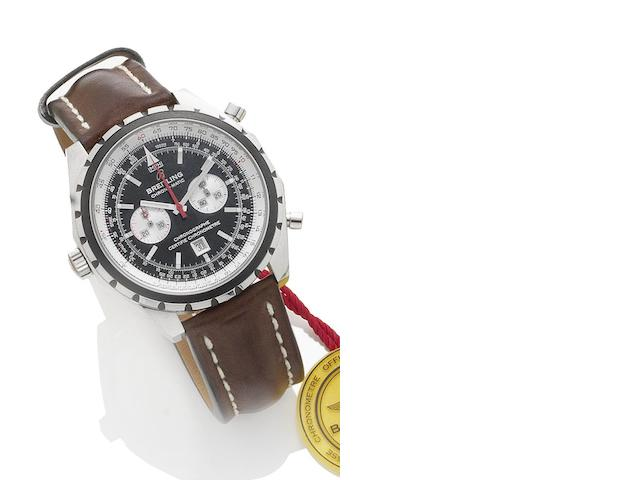 Breitling. A stainless steel automatic chronograph wristwatch Navitimer Chrono-Matic, reference A41360, recent