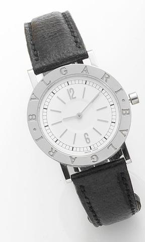 Bulgari. A stainless steel quartz wristwatchRecent