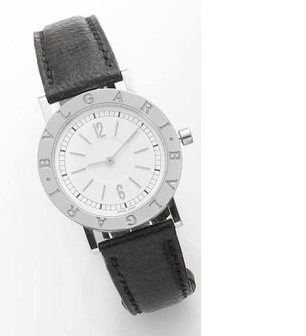 Bulgari. A stainless steel quartz wristwatch Recent
